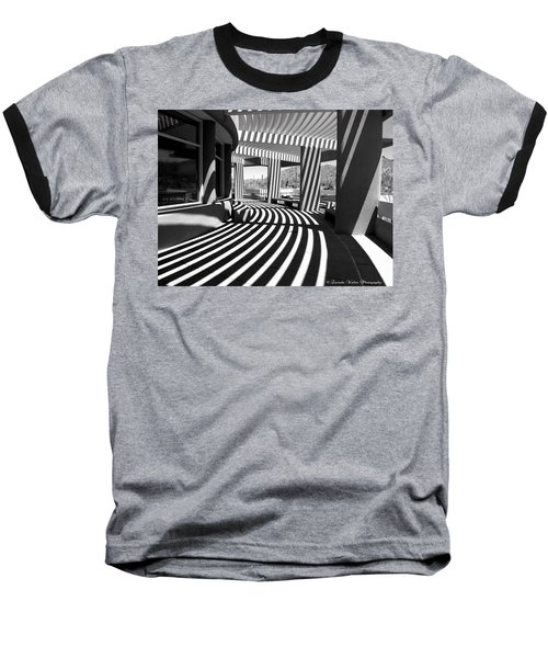 Lines And Curves Baseball T-Shirt