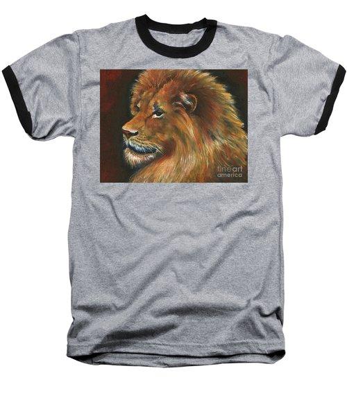 Baseball T-Shirt featuring the painting Lion by Alga Washington