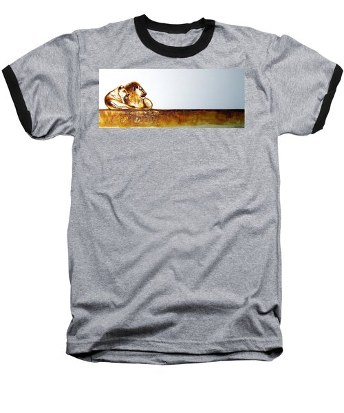 Lion And Lioness - Original Artwork Baseball T-Shirt