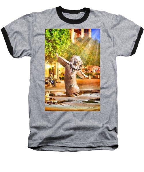 Lion Fountain Baseball T-Shirt