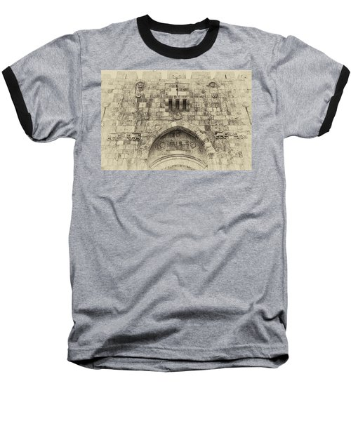 Lion Gate Jerusalem Old City Israel Baseball T-Shirt