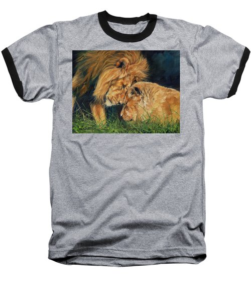 Lion  Love Baseball T-Shirt