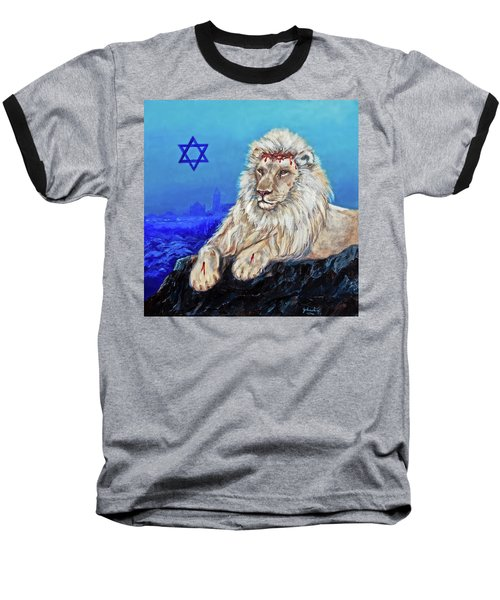 Lion Of Judah - Jerusalem Baseball T-Shirt