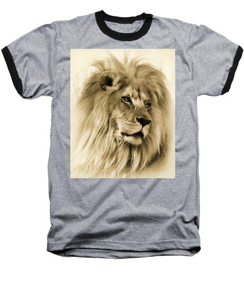 Lion Baseball T-Shirt by Swank Photography