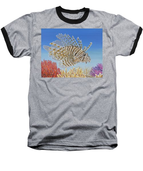 Lionfish And Coral Baseball T-Shirt