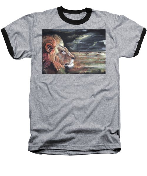 Baseball T-Shirt featuring the pastel Lions Domain by Peter Suhocke