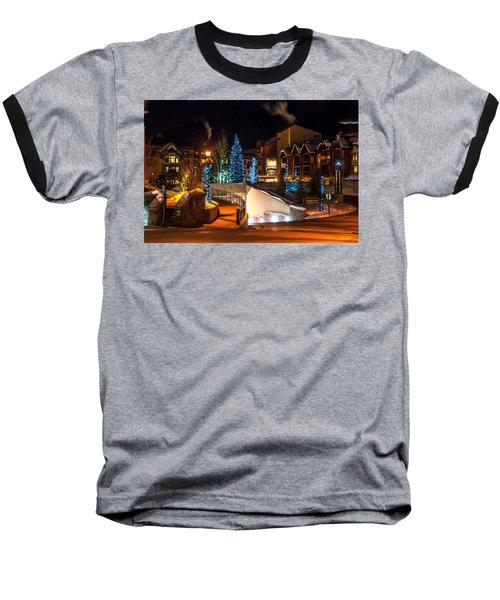 Lions Head Village Vail Colorado Baseball T-Shirt by Brenda Jacobs