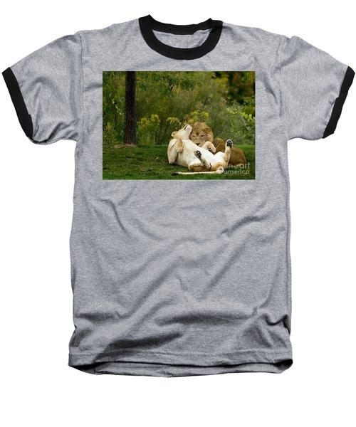 Lions In Love Baseball T-Shirt
