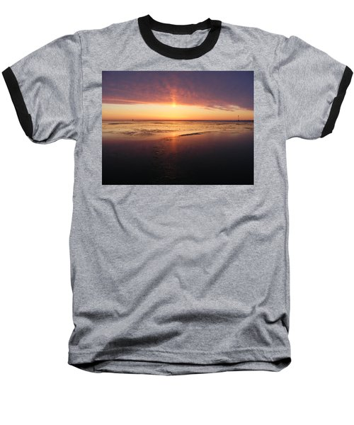 Liquid Sunrise Baseball T-Shirt
