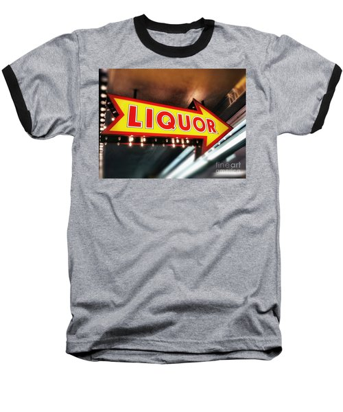 Liquor Store Sign Baseball T-Shirt