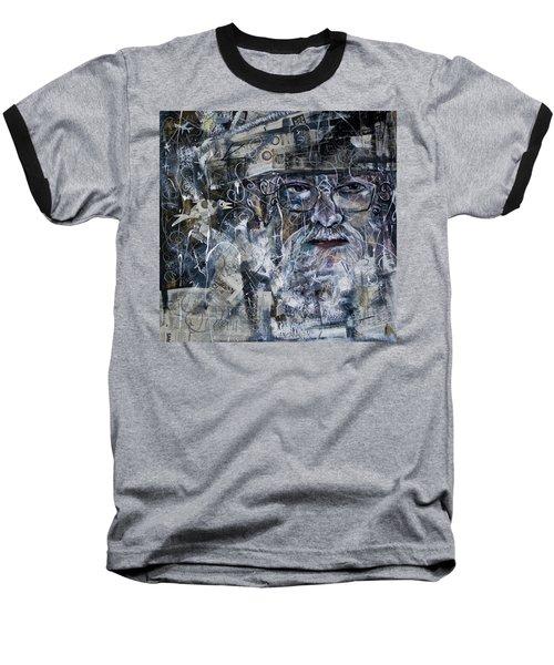 Listening Baseball T-Shirt by Maxim Komissarchik