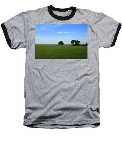 Listening To The Breeze  Baseball T-Shirt by Neal Eslinger