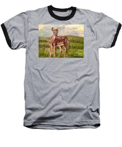 Baseball T-Shirt featuring the painting Listening To The Creator's Voice by Kimberlee Baxter