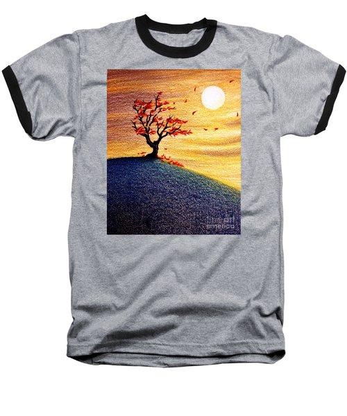 Little Autumn Tree Baseball T-Shirt by Danielle R T Haney