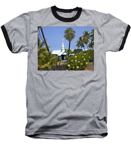 Little Blue Church Kona Baseball T-Shirt