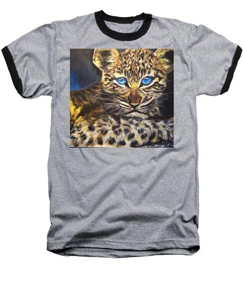 Little Blue Eyes Baseball T-Shirt