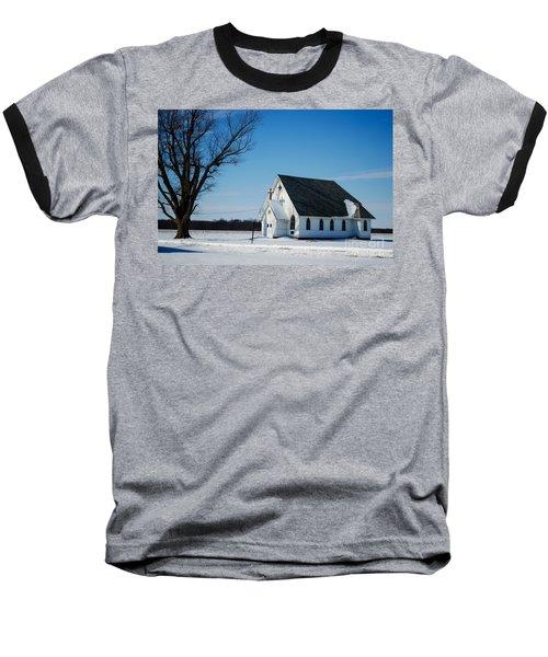 Little Church On The Prairie Baseball T-Shirt by Luther Fine Art