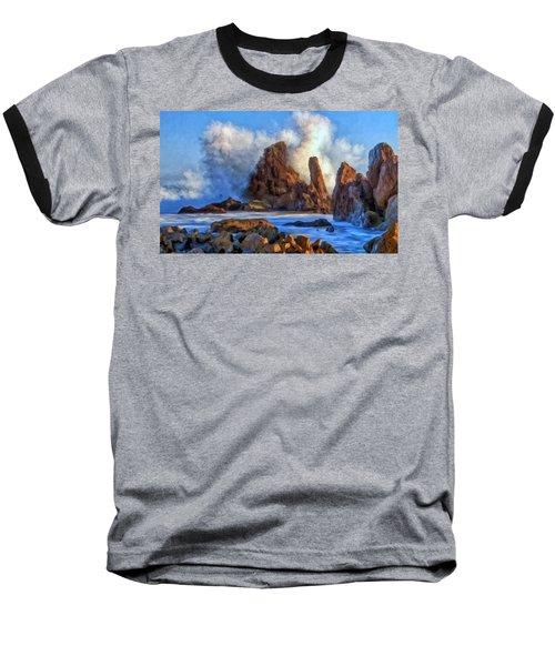 Baseball T-Shirt featuring the painting Little Corona by Michael Pickett