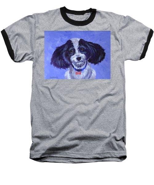 Little Dog Blue Baseball T-Shirt