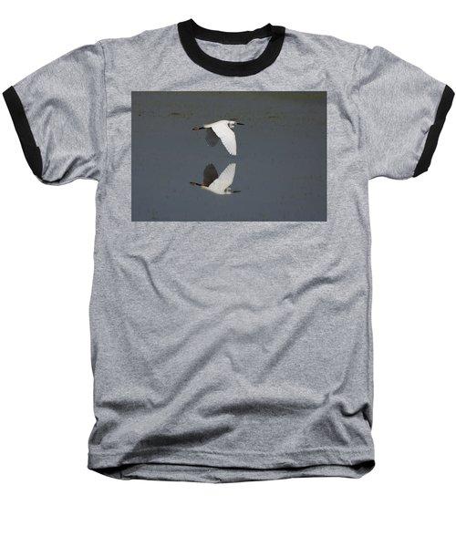 Little Egret In Flight Baseball T-Shirt