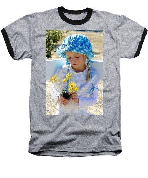 Little Girl Blue  Baseball T-Shirt