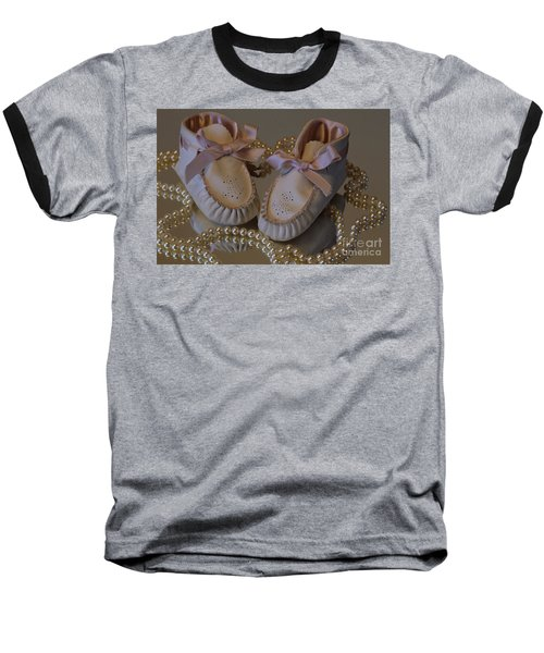 Baseball T-Shirt featuring the photograph Little Girls To Pearls by Sharon Elliott