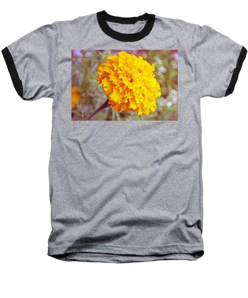 Baseball T-Shirt featuring the photograph Little Golden  Marigold by Kay Novy