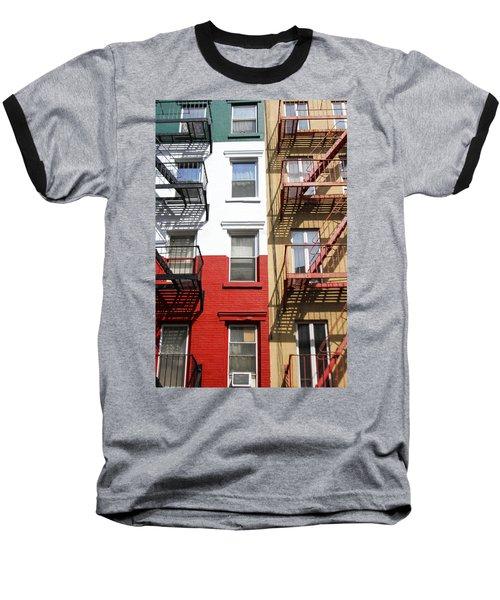 Little Italy. Baseball T-Shirt by Menachem Ganon