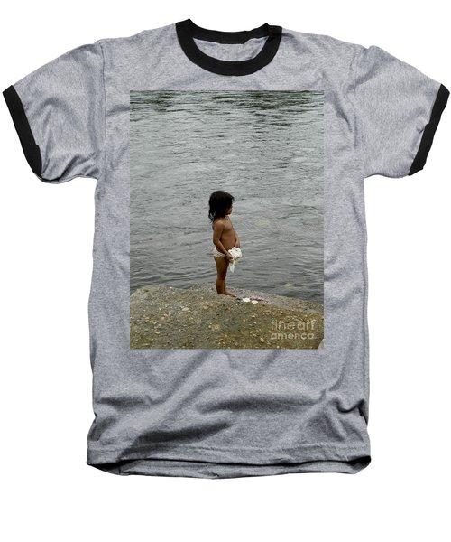 Little Laundress Baseball T-Shirt by Kathy McClure