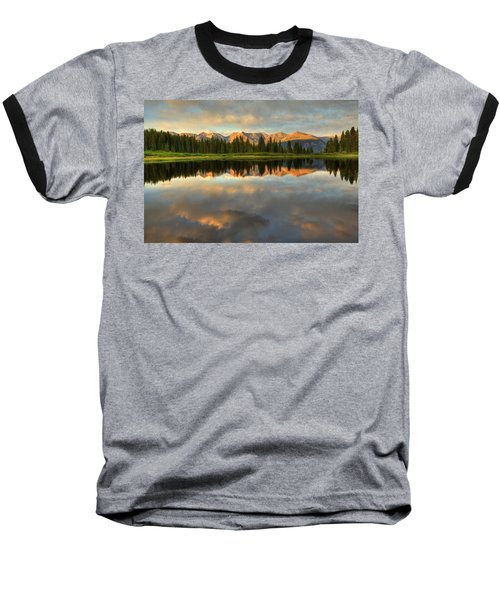 Little Molas Lake At Sunset Baseball T-Shirt