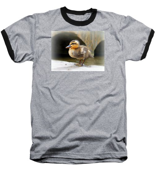 Baseball T-Shirt featuring the photograph Little Quack by Morag Bates