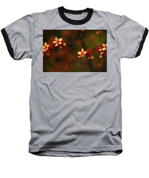 Little Red Flowers Baseball T-Shirt