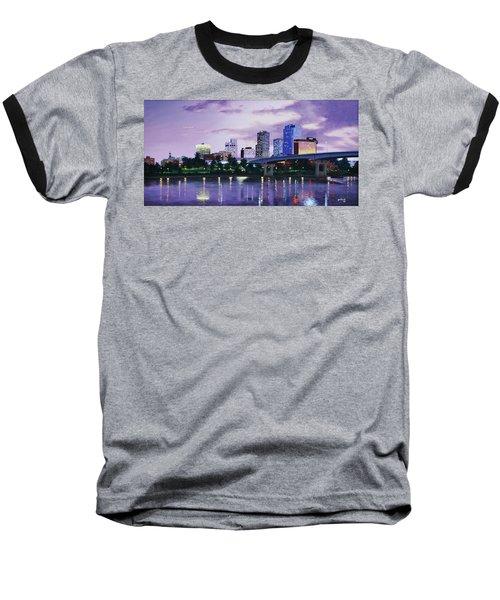 Little Rock Skyline Baseball T-Shirt