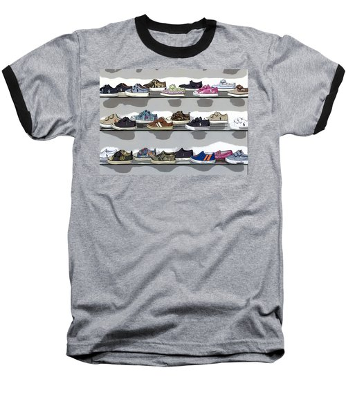 Little Sneakers Baseball T-Shirt by Keith Armstrong