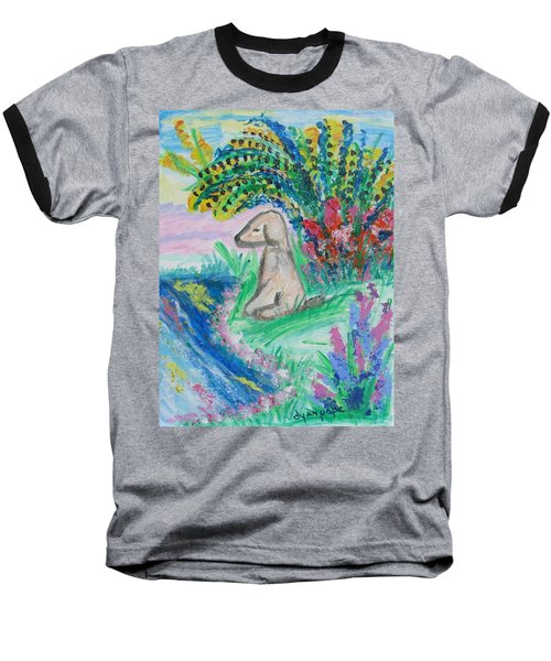 Little Sweet Pea Baseball T-Shirt by Diane Pape