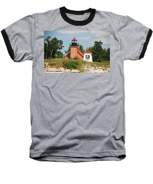 Little Traverse Lighthouse No.2 Baseball T-Shirt by Janice Adomeit
