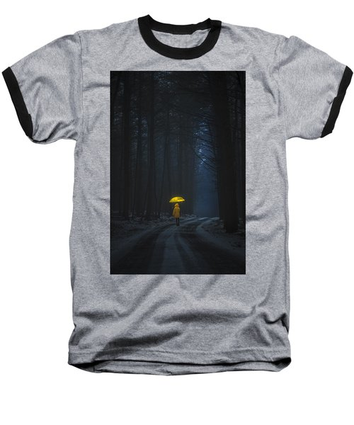 Little Yellow Riding Hood Baseball T-Shirt