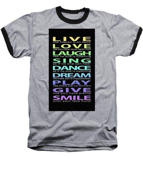 Live Love Laugh Baseball T-Shirt
