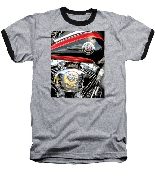 Baseball T-Shirt featuring the photograph Live To Ride  Ride To Live By David Lawrence by David Perry Lawrence