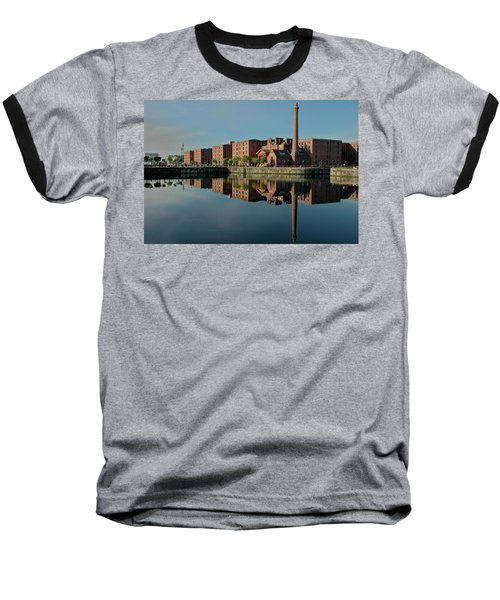 Liverpool Canning Docks Baseball T-Shirt by Jonah  Anderson