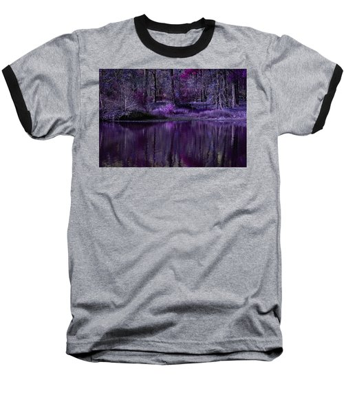 Living In A Purple Dream Baseball T-Shirt by Linda Unger