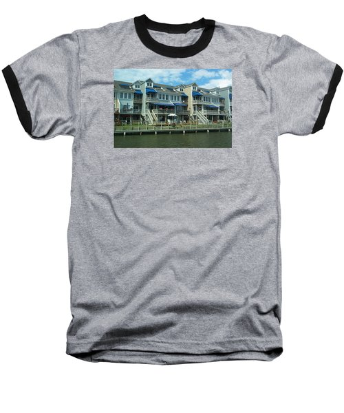 Baseball T-Shirt featuring the photograph Living On The Dock Of The Bay by Emmy Marie Vickers
