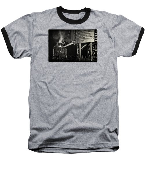 Baseball T-Shirt featuring the photograph Loading Water At Chama Train Station by Priscilla Burgers
