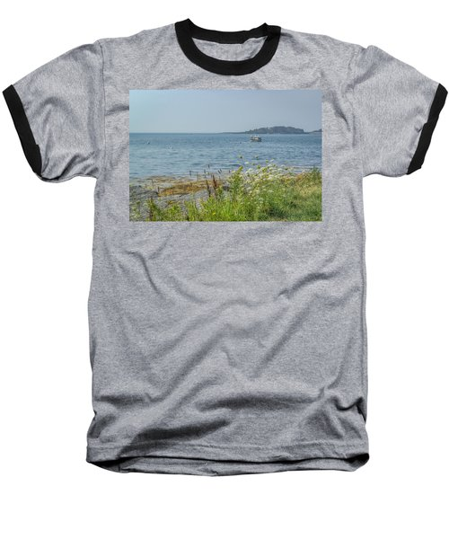 Baseball T-Shirt featuring the photograph Lobster Boat At Rest by Jane Luxton