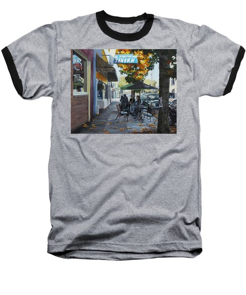 Baseball T-Shirt featuring the painting Local Color by Karen Ilari