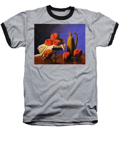 Local Peaches Oil Painting Baseball T-Shirt