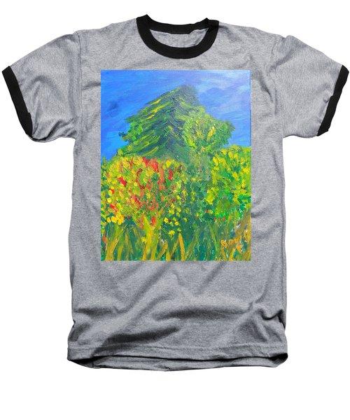 Local Trees Baseball T-Shirt by David Trotter