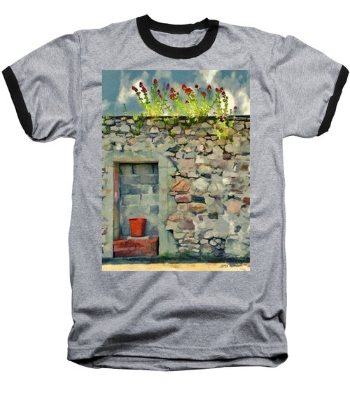 Baseball T-Shirt featuring the painting Location With A View by Jeff Kolker