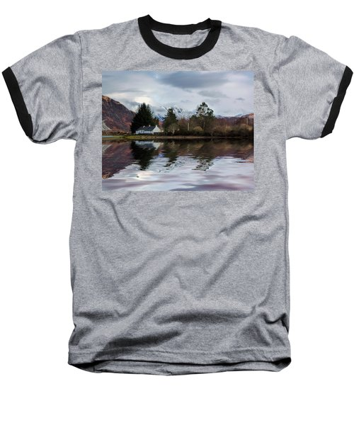 Loch Etive Reflections Baseball T-Shirt by Lynn Bolt