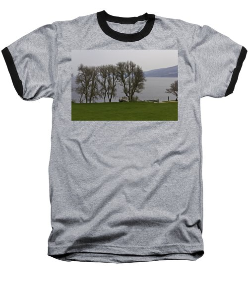 Loch Ness And Boat Jetty Next To Urquhart Castle Baseball T-Shirt